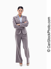 Portrait of a businesswoman posing with the arms crossed