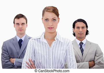 Businessteam with arms folded