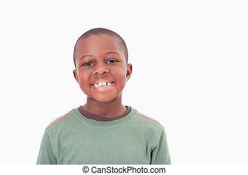 Smiling boy posing