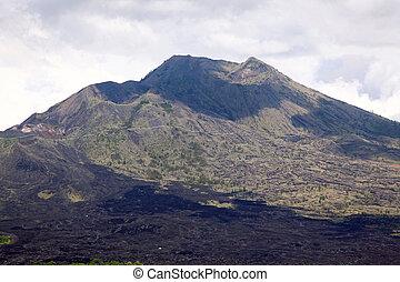 Batur volcano landscape