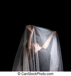 A married couples under the veil