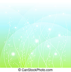 abstract spring background with lig