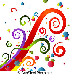 Festive Party Swirls - An image of a colorful festive party...