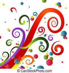 Festive Party Swirls