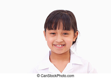 Cute little girl smiling