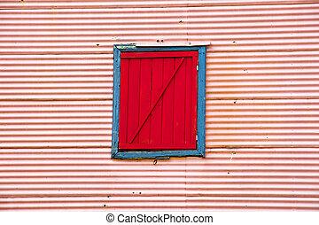 Wall with window in La Boca