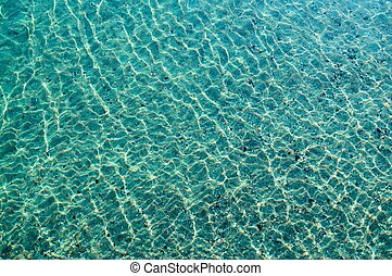 aqua background - Background - the seabed through the...