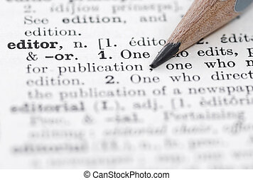 Editor Definition in English Dictionary - Shallow DOF, focus...