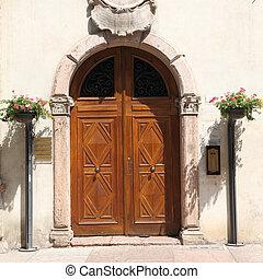 木製である, ドア,  fron