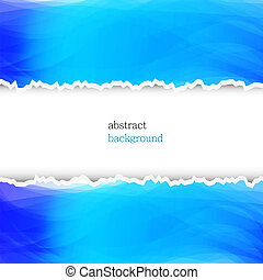 torn abstract background with place for your text. Vector illustration