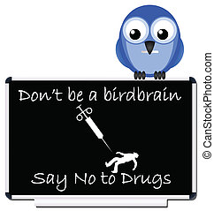 say no to drugs message