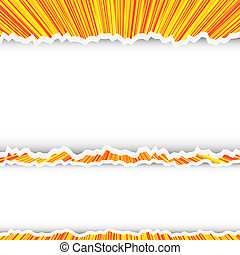 torn abstract background with place for your nessage. Vector illustration