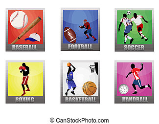 Set of a sport icons on white background, vector...