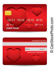 special red credit card with valentine's day design