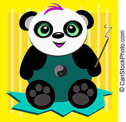 Panda Bear with Incense - This Peaceful Panda Bear loves to...