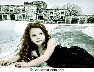 Runaway Lost Girl Child Conceptual Image