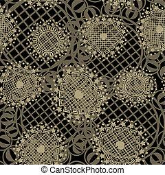 Vector seamless ornament texture