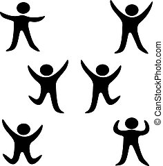 Vector symbols of human