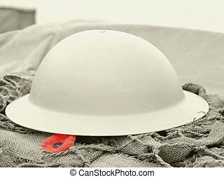 Remembrance - close up of a symbol of remembrance the...