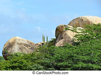 Ayo Rock Formation - monolithic rock boulders of the Ayo...