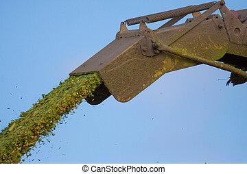 Maize crop chopper ejection tower
