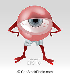 Human tired eye