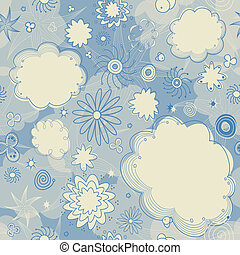 Seamless Stars and Clouds Pattern - This is a resizable...