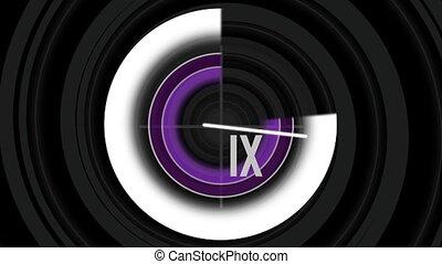 Counter, violet, spiral