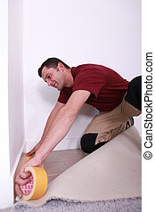 craftsman covering a floor