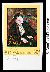 Postage Stamp - VIETNAM - CIRCA 1987: A stamp printed in...