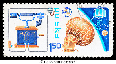 Postage Stamp - Poland - CIRCA 1985: An airmail stamp...