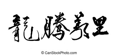 Chinese New Year Calligraphy for the Year of Dragon 2012...