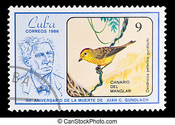 Postage Stamp - CUBA - CIRCA 1986: A Stamp shows image of a...