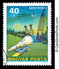 Postage Stamp - POLAND - CIRCA 1977: An airmail stamp...