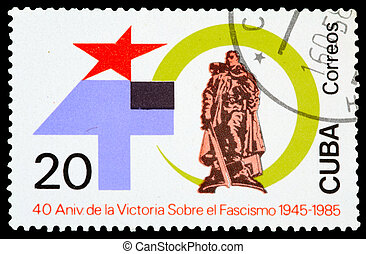 Postage Stamp - CUBA - CIRCA 1985: stamp printed by Cuba,...