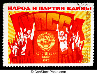Postage Stamp - USSR - CIRCA 1977: : A stamp printed in the...