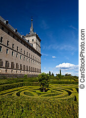 San Lorenzo de El Escorial Monastery, Spain on a Sunny Day