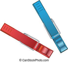 Vector plastic clothespins