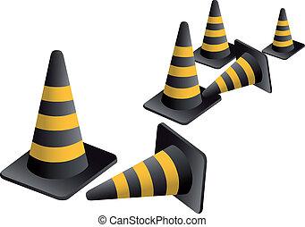 Vector traffic Cones