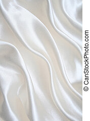 Smooth elegant white silk as background - Smooth elegant...