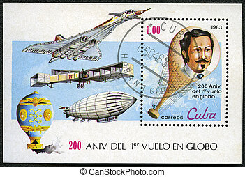 CUBA - CIRCA 1983: A post stamp printed in Cuba devoted...