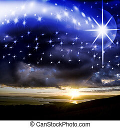 star background of Christmas