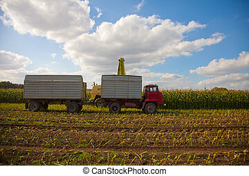 Maize crop chopper ejection tower - Maize crop chopper,...