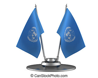 The flag the United Nations on the flagpole