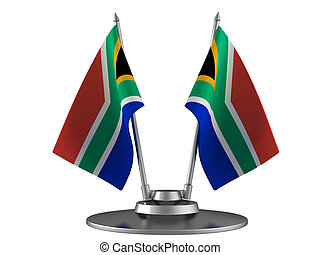 The flag South Africa on the flagpole