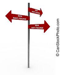 Pointer 404 not found. Error. 3D image