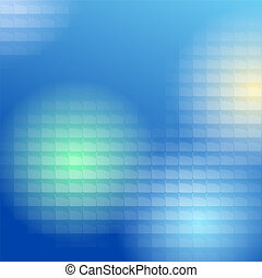 Blue Lite Tiles Background - Colored light passes through...