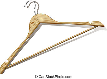 Clothes Hanger - photorealistic clothes hanger with shadow...