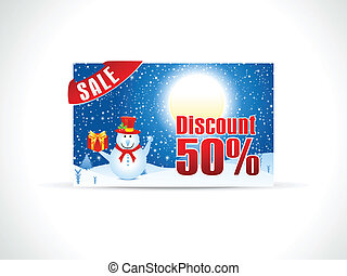 abstract christmas discount card vector illustration