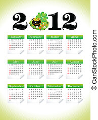 abstract st patrick calender